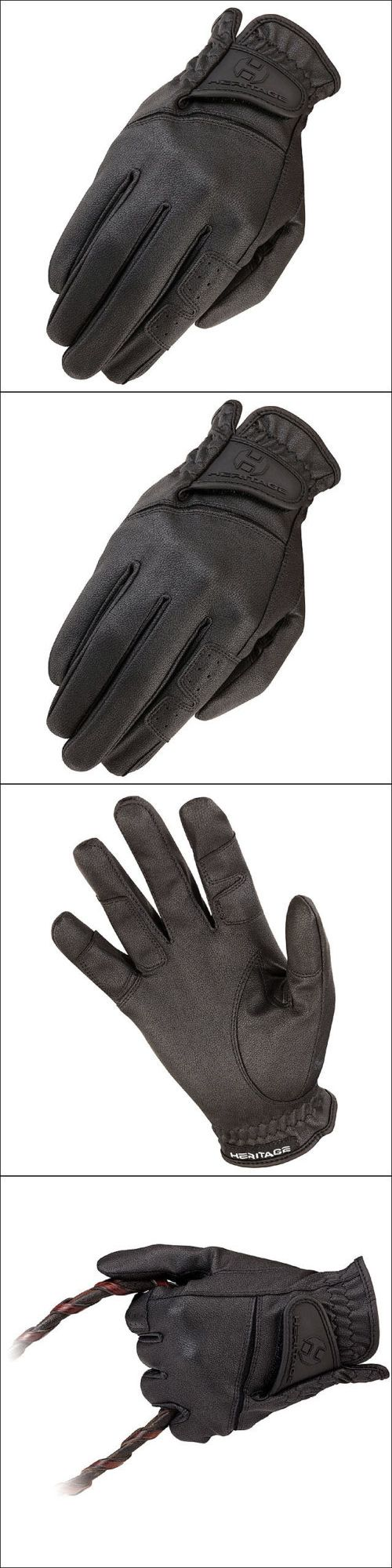 Riding Gloves 95104: 10 Size Heritage Gpx Show Horse Riding Equestrian Glove Leather Black -> BUY IT NOW ONLY: $33.99 on eBay!
