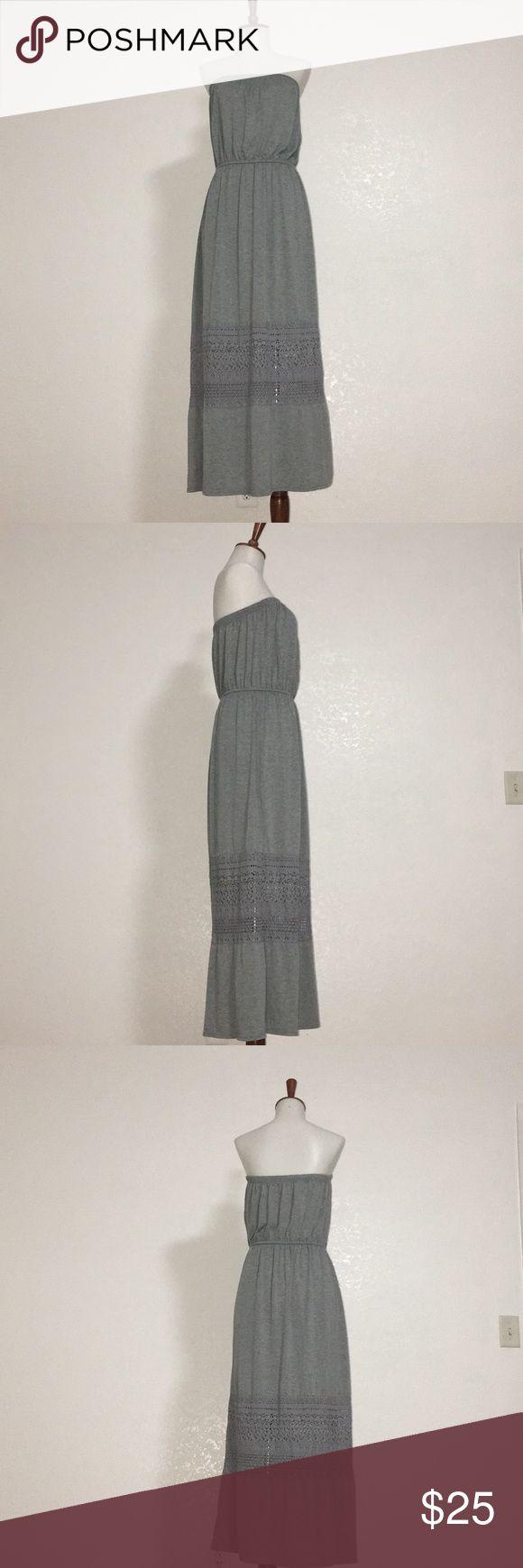 Tube dress Strapless tube Maxi dress. Gray color  Worn ones. Like new. Xhilaration Dresses Strapless