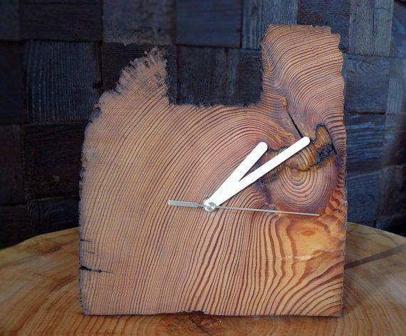 Natural hanging/standing clock  irregular by RenovatioImperii