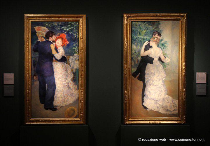 Danza in campagna / Danza in città, 1883. #Renoir #GAM #Torino