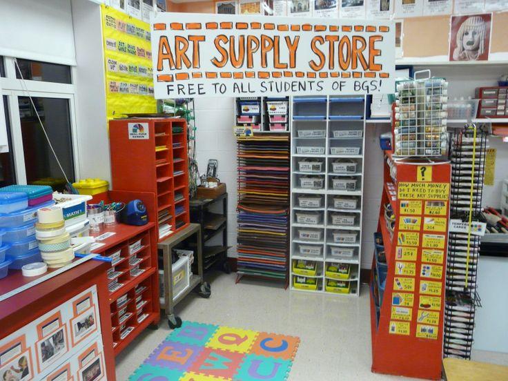 art supply store  -- w...