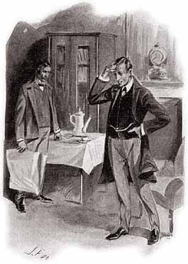 An emotional Sherlock Holmes regretting that he couldn't save his client in 'The Five Orange Pips'