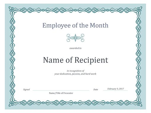Best 25+ Sample certificate of recognition ideas on Pinterest - employee award certificate templates free