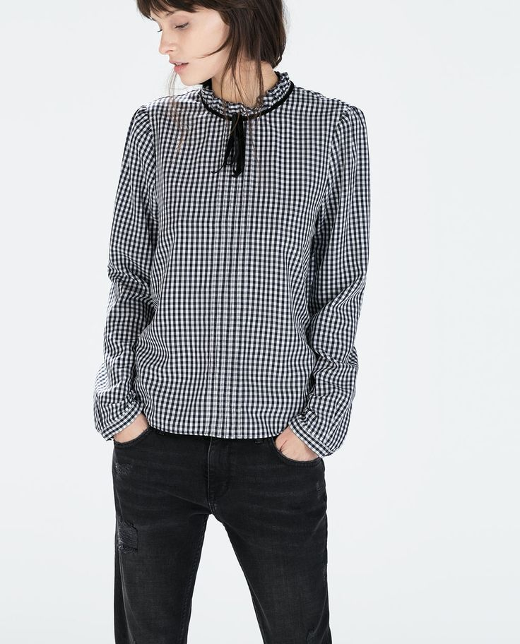 GINGHAM BLOUSE-Woman-NEW THIS WEEK | ZARA United States