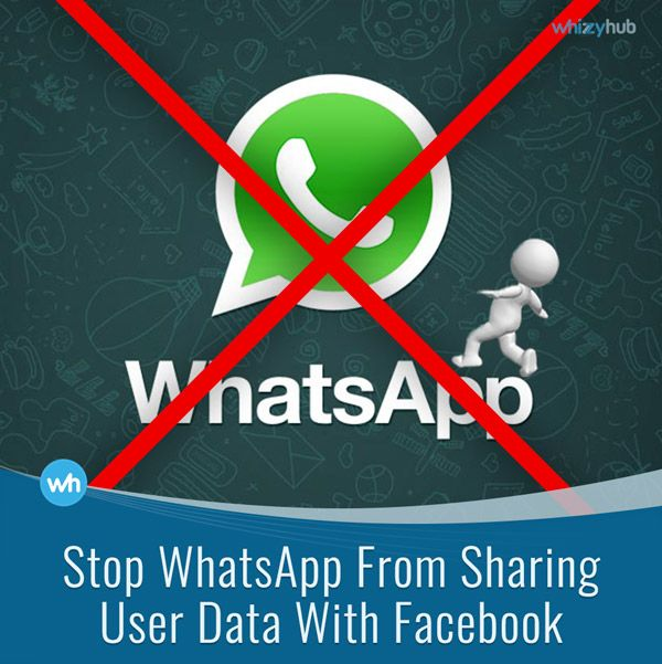 STOP WHATSAPP FROM SHARING USER DATA WITH FACEBOOK #ADS #ADVERTISING #CHAT #DATA #FACEBOOK #INFO #SHARING #SOCIALMEDIA #TECHNOLOGY #TOS #UPDATE #USERS #WHATSAPP Read more: http://whizzyhub.com/stop-whatsapp-from-sharing-user-data-with-facebook/