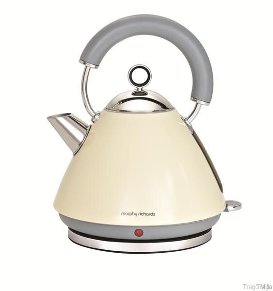 Morphy Richards Accents Cordless Pyramid Kettle 3000W 1.5L 43775 - Cream