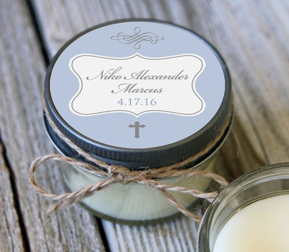 12 - 4 oz Baptism Favor//First Communion Favor//Soy Candle Favor//Personalized Baptism Favor//Shower Favor//Chalkboard Favors//