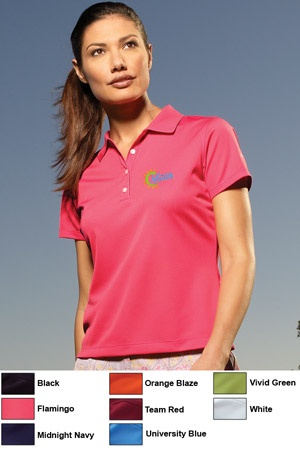 Nike Corporate Golf Embroidered Ladies shirt.  Great golf shirt to brand with your company logo.