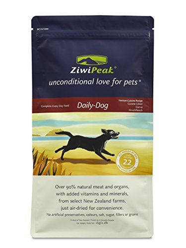 Aus der Kategorie Trockenfutter  gibt es, zum Preis von EUR 22,46  ZiwiPeak's Air-Dried Venison Cuisine is a raw equivalent, premium dry dog food. New Zealand's premium quality grass-fed venison is a superb protein source for dogs. It's highly digestible with high levels of natural chondroitin and glucosamine to support long-term mobility and joint health.