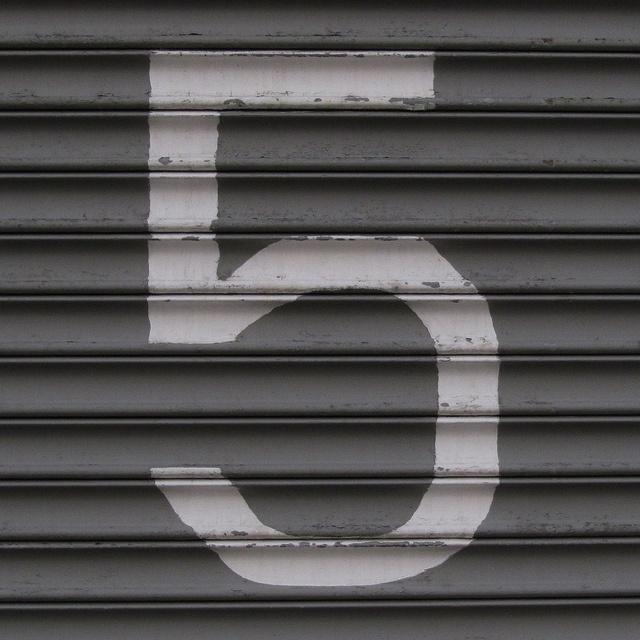 number 5 by Leo Reynolds
