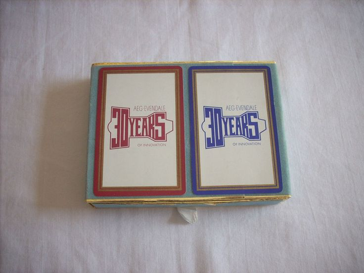 GE General Electric Logo AEG-Evendale 30 Years 2 Decks Playing Cards