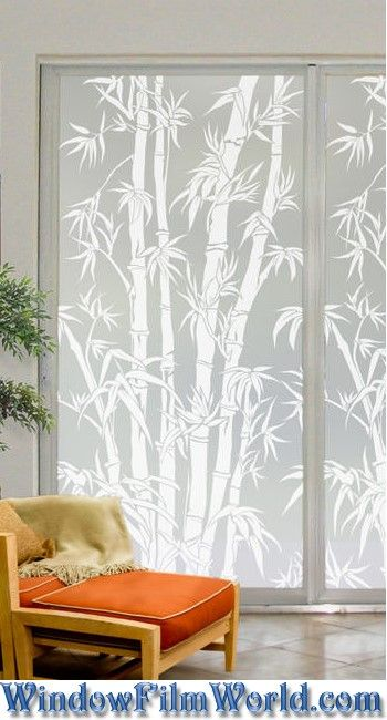 Big Bamboo | Privacy Window Film (Static Cling)