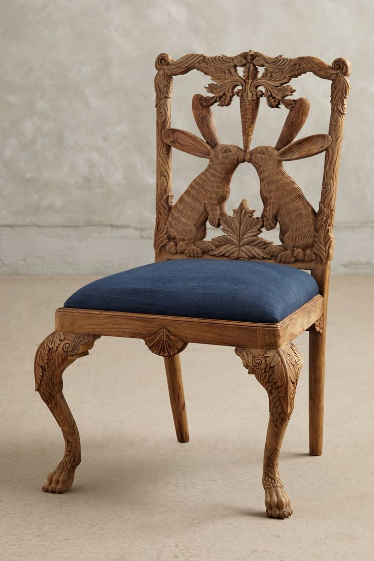 Handcarved Menagerie Rabbit Dining Chair - anthropologie.com