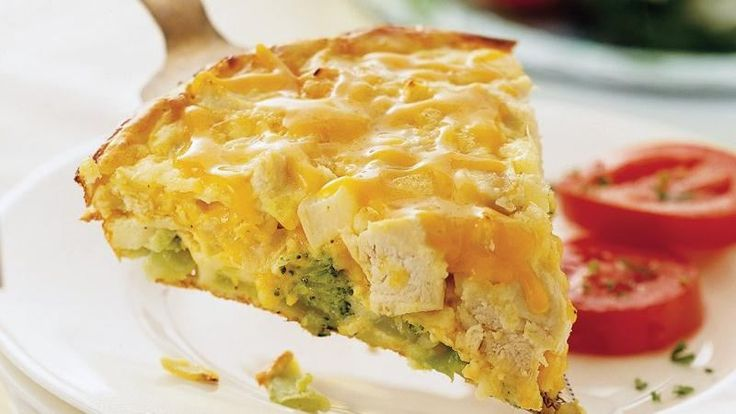 Green Giant® frozen broccoli provides a simple addition to this impossibly easy chicken pie – a cheesy flavorful dinner!
