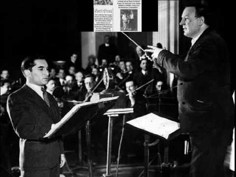 """Unforgettable Joseph Schmidt: """"Es wird im Leben""""  Recording from 1936."""