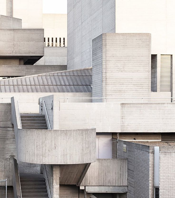a study of concrete the royal national theatre in southbank london. photo by…