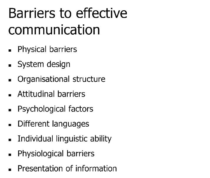 how to write a good barriers to effective communication paper communication followed largely defined cultural and societal norms there are also cultural environmental and internal factors that can effect communication