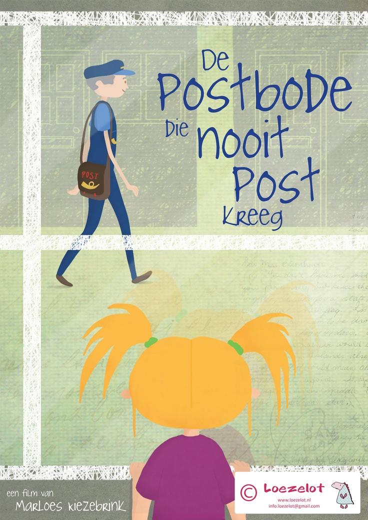 Poster 'De postbode die nooit post kreeg' kijk de animatie hier: https://vimeo.com/26930008  Gemaakt door Marloes Kiezebrink