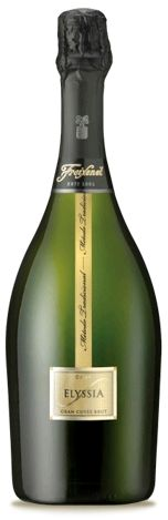 Elyssia Gran Cuvée Brut brings the idea of symmetry to life with combination of traditional Macabeo and Parellada Cava grapes blended with international favorites Chardonnay and Pinot Noir.