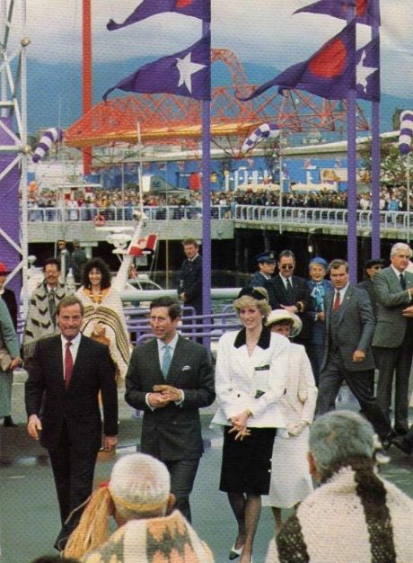 1986-05-02 - Diana and Charles attend the Opening Ceremonies at Expo '86 in Vancouver, British Columbia #Expo86 #WorldsFair #Vancouver #BritishColumbia #Canada