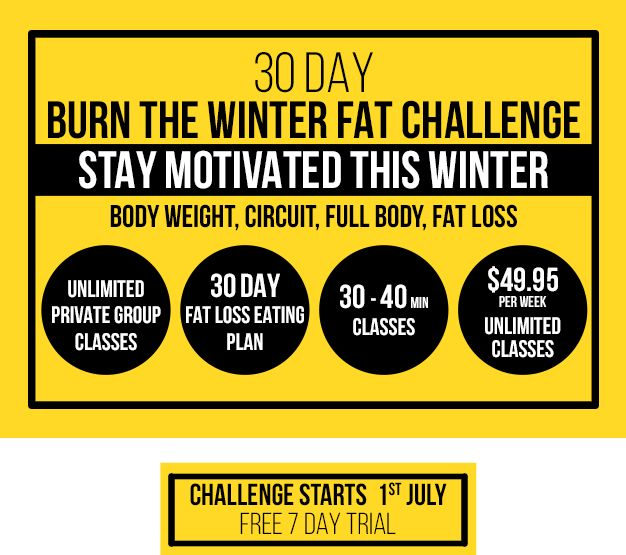 30 day - BURN FAT & TONE UP challenge starts.. Visit MTC or call us today!
