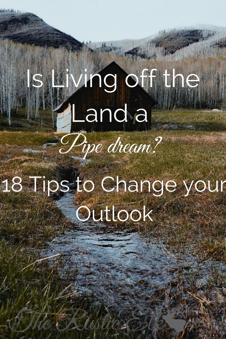 Do you dream of being self-sufficient, working for yourself, and living off of the land? It's not as big of a leap as you may think. Here are 18 tips to change your outlook and help you realize, living off the land is anything but a pipe dream.