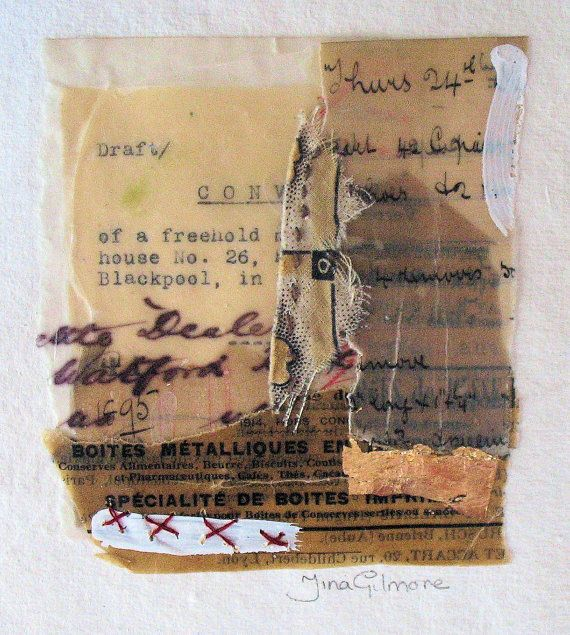 Of a Freehold, an original mixed media stitched by tinagilmore.