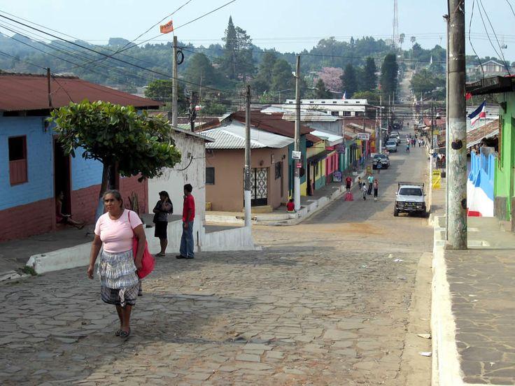 A street in Ataco village on the Ruta de las Flores