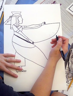Egyptian Art Drawings