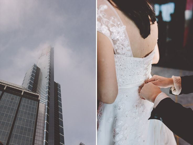 Getting ready 89 floors above ground. Wedding Reception at Eureka 89. Melbourne Wedding Photography.