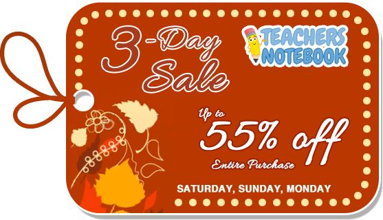 Teacher's Notebook 3-Day Sale! All of my products for students with autism are ON SALE :)