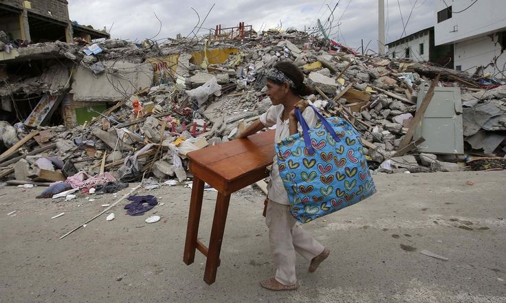 The strongest earthquake to hit Ecuador in decades flattened buildings and buckled highways along its Pacific coast