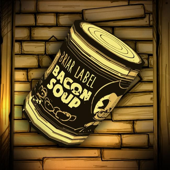 Bacon Soup Can Label Sticker Bendy And The Ink Machine