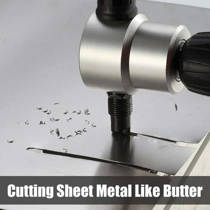 Nibbler Cutter Drill Attachment Double Head Metal Sheet In 2020 Metal Cutter