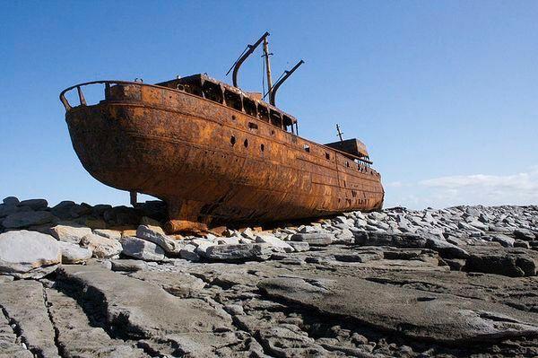 Relitto di ruggine, isole Aran, Irlanda