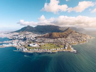 Arial image of Cape Town, South Africa