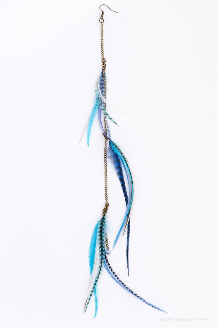 3 Tier Earring--  Blues