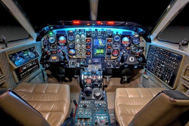 Beechcraft King Air C90 cockpit