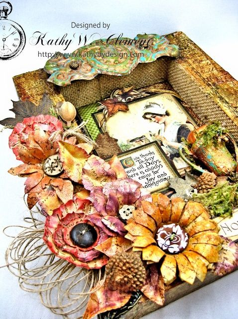 How to Place in Time Altered Shadowbox Thanksgiving Frame