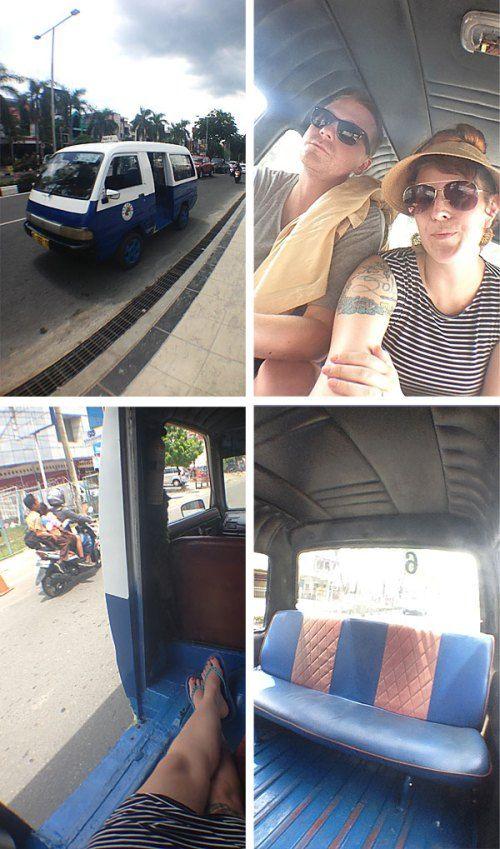 Ancot ride Balikpapan, Indonesia