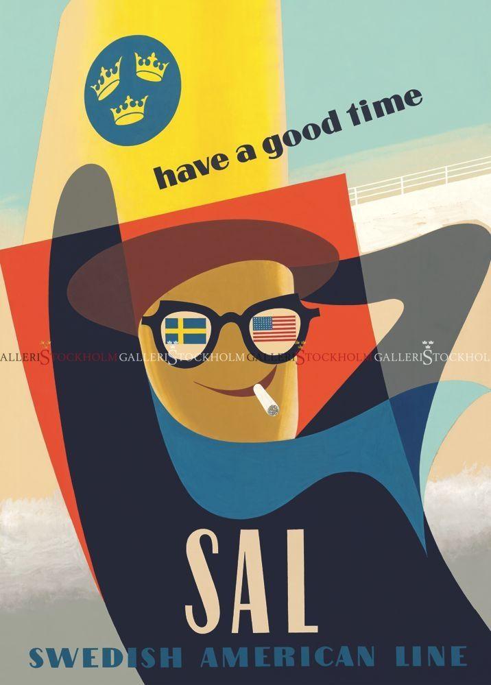Inga-Greta Solbreck-Möller - Affischer Retro - Have a good time