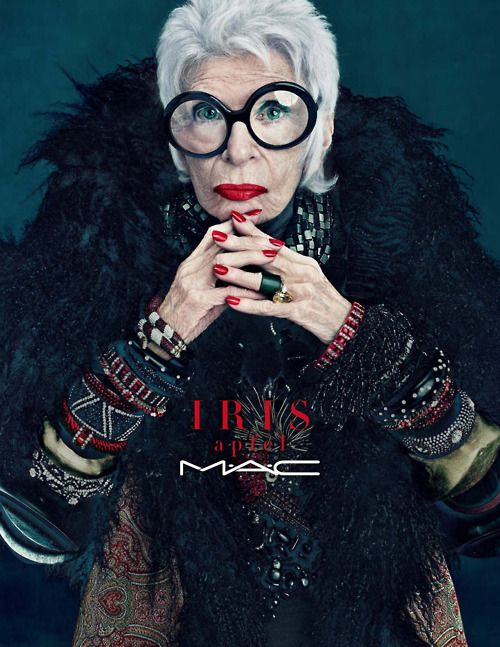 iris apfel. gloriously over the top.