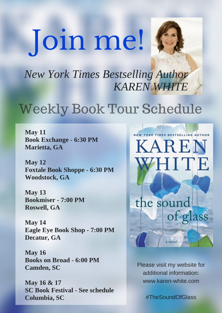 I love being on the road for book tour and the chance it provides to meet my fabulous readers live and in person.  Check here for details of my tour schedule, photos and other fun information from the road.