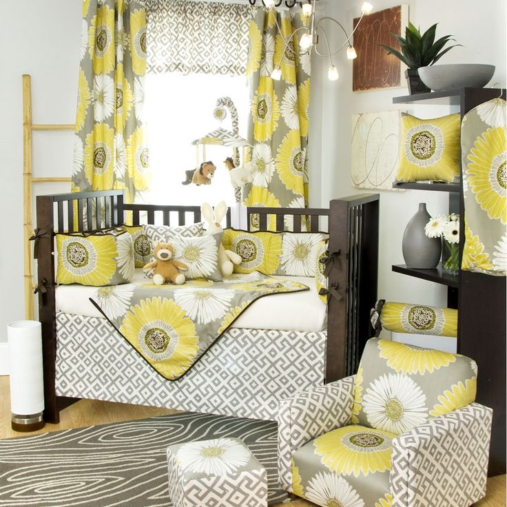 Sunflower Baby Crib Bedding