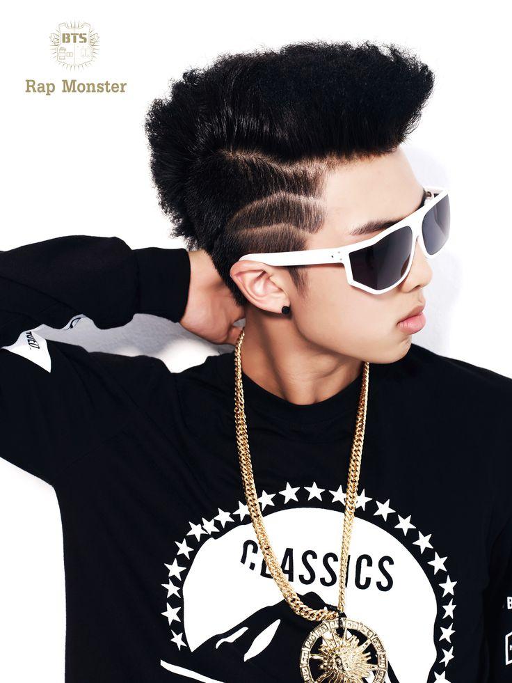 Stage name: Rap Monster Birth name: Kim Nam Joon (김남준) D.O.B: September 12, 1994 Postion: Leader, Rapper Blood Type: A #RapMonster #BTS
