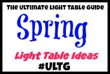 Spring and Spring Holidays Light Table Ideas from The Ultimate Light Table Guide #ULTG