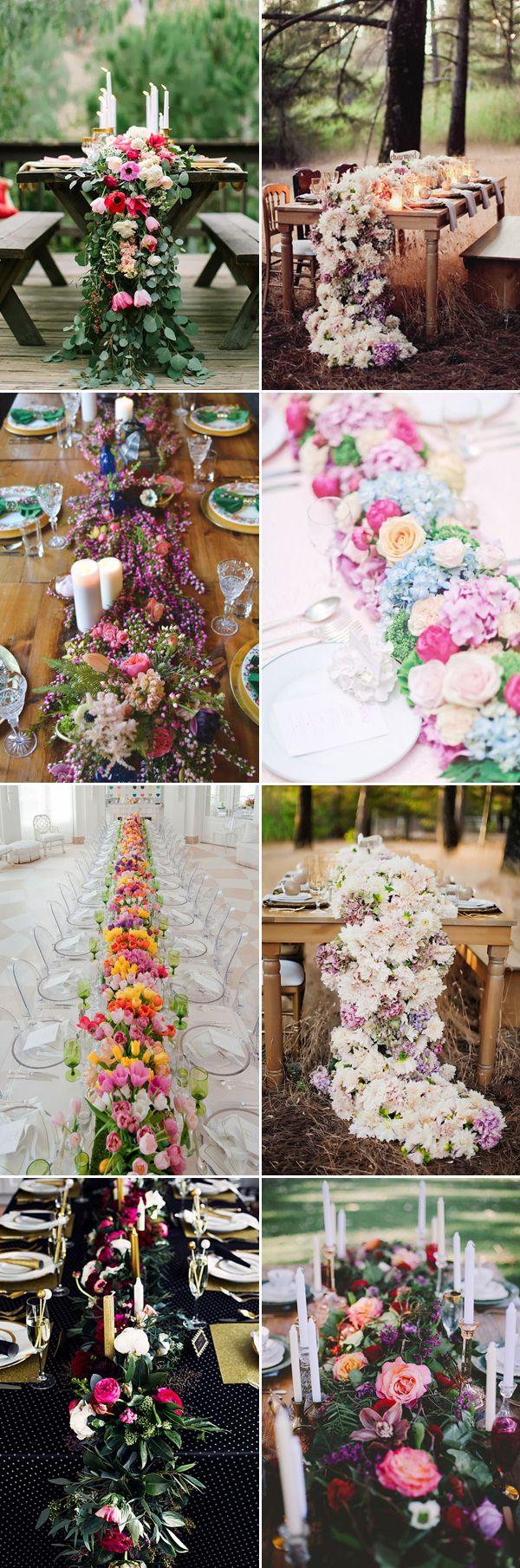 25 Statement-making Fresh Flower Table Runners!