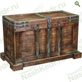 Сундук старинный, кедр - Мебель из кедра - купить по цене производителя, магазин Наш Кедр