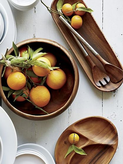 These are perfect for the clean yet woodsy kitchen!  Fruit would look great displayed in this bowl!  #LGLimitlessDesign #Contest