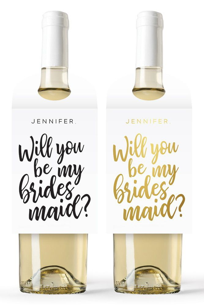Personalized Wine Bottle Neck Hang Tags Be My Bridesmaid Personalized Wine Bottles Be My Bridesmaid Wine Tags
